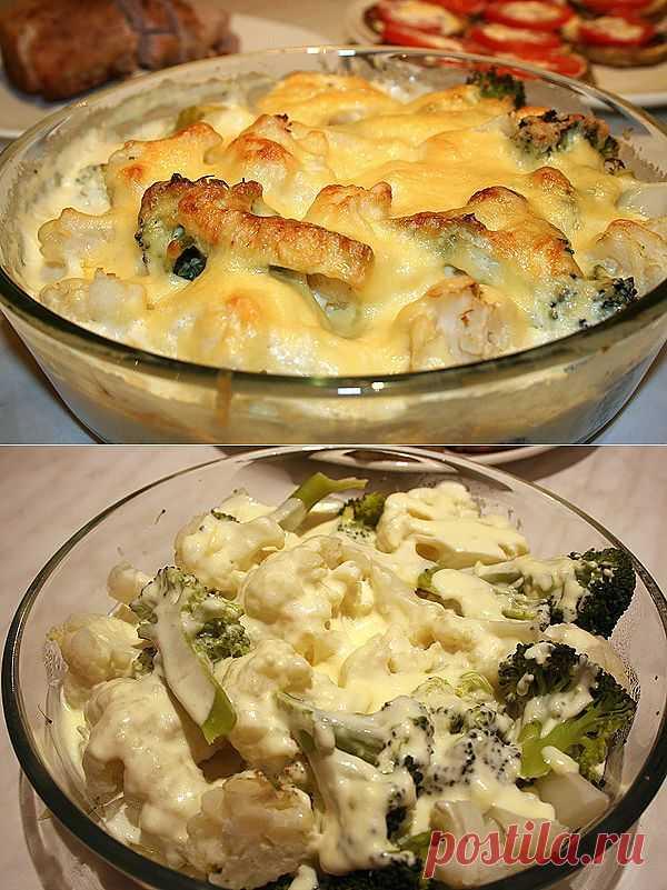 Вкусная и нежная капуста под молочным соусом может стать хорошим дополнением к мясу или рыбе.