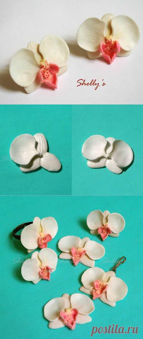 Орхидея, лепка   СДЕЛАЙ САМ!