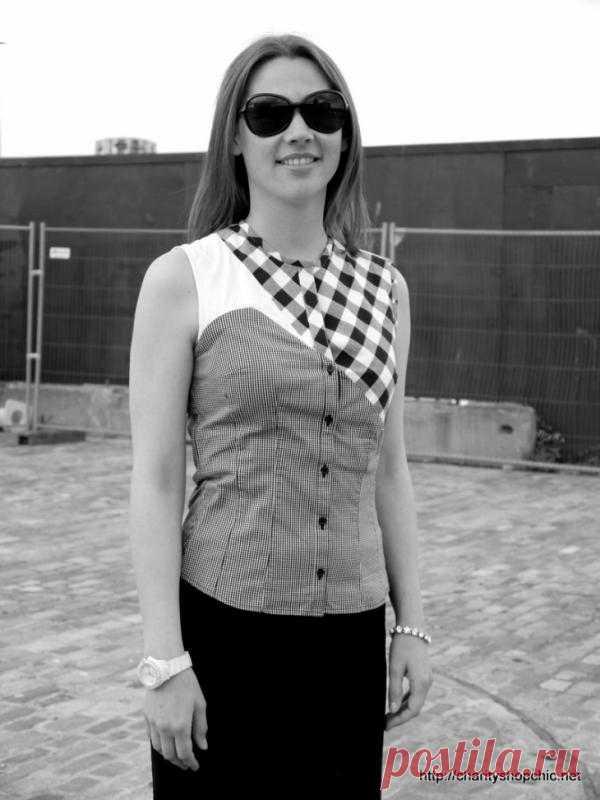 Переделка блузки (Diy) / Блузки / Модный сайт о стильной переделке одежды и интерьера