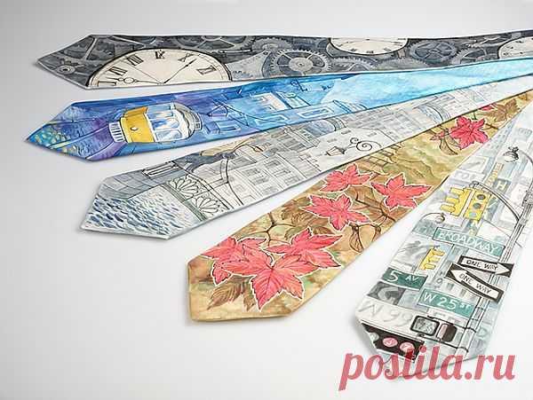 Мужские галстуки с авторскими рисунками / Мужские галстуки / Модный сайт о стильной переделке одежды и интерьера