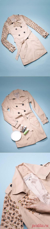 Плащ с рисунком Moschino (DIY) / Пальто и плащ / Модный сайт о стильной переделке одежды и интерьера