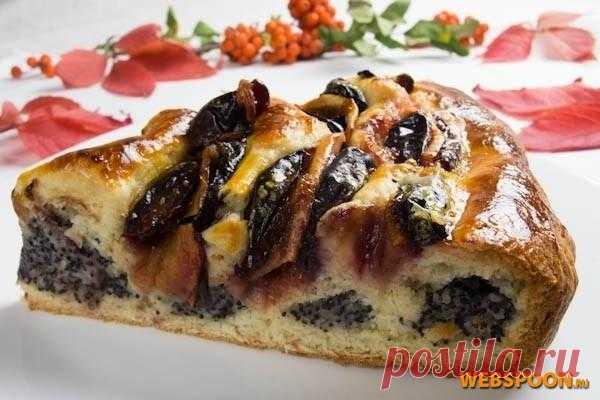 Кольцевой пирог с маком | Рецепт кольцевого пирога с маком с фото | Пирог с фруктами на Webspoon.ru