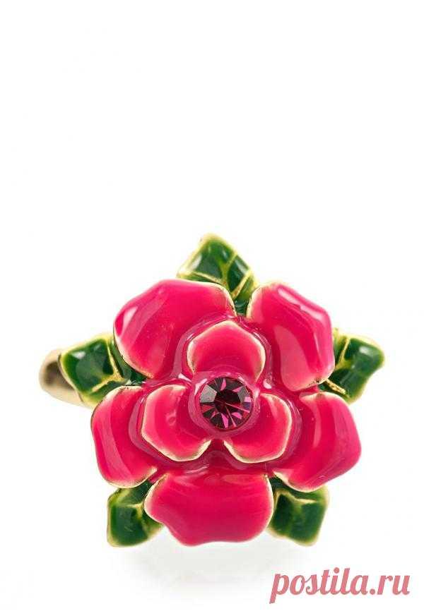Нежное кольцо с розовым цветком (590 руб.)