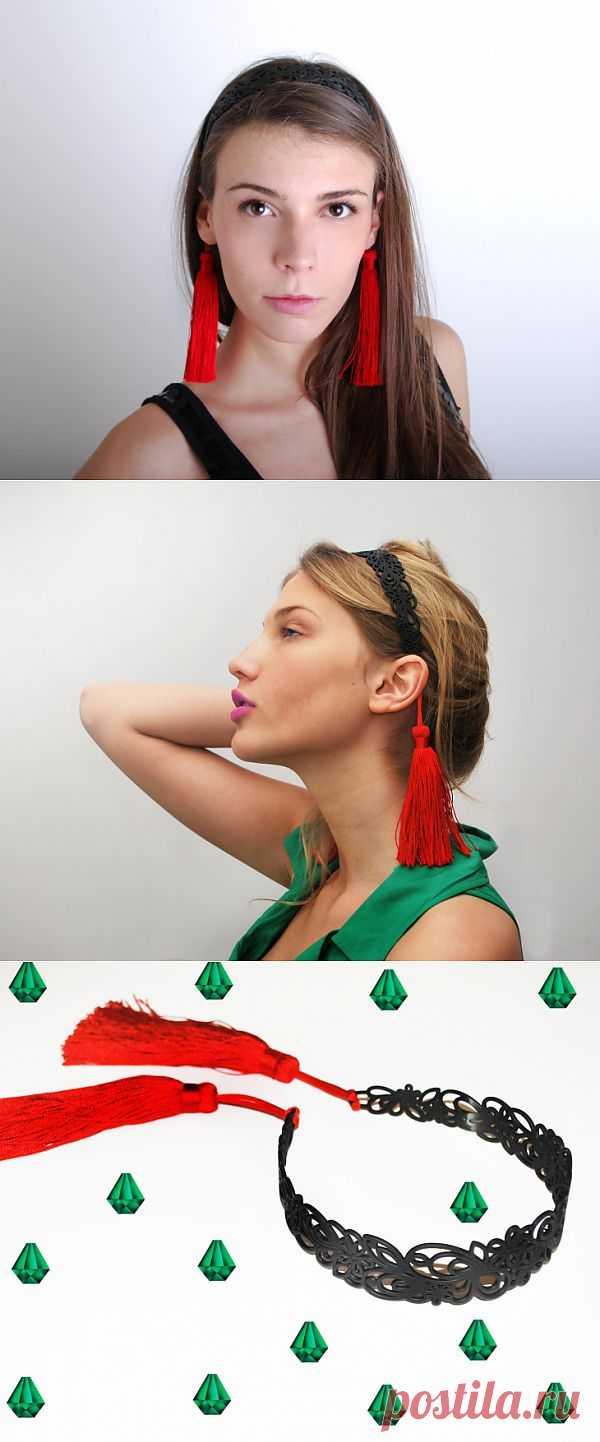 Необычно-обычный ободок / Украшения для волос / Модный сайт о стильной переделке одежды и интерьера