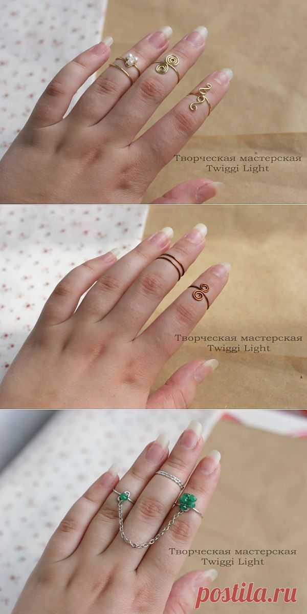 Колечки на средние фаланги пальцев / Украшения и бижутерия / Модный сайт о стильной переделке одежды и интерьера