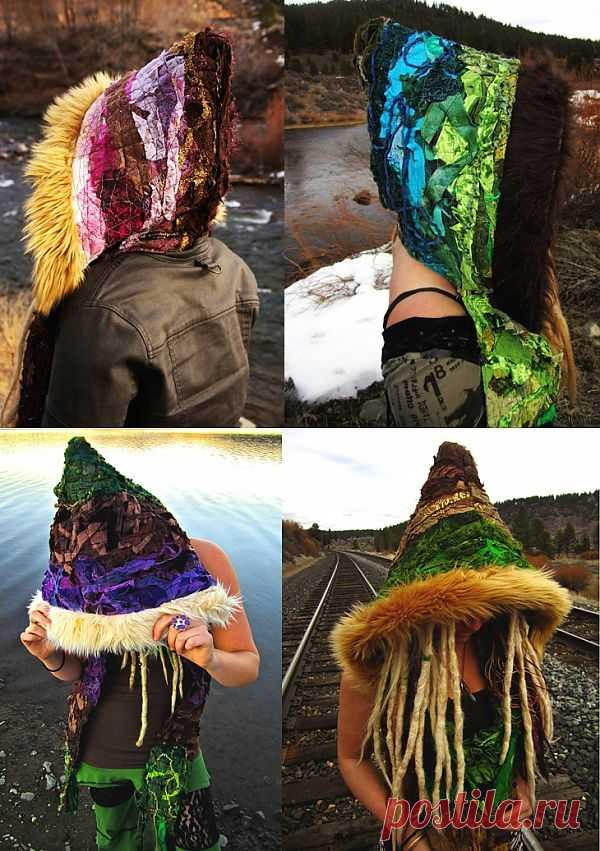 Капюшон в стиле Pixie из обрезков ткани / Пэчворк / Модный сайт о стильной переделке одежды и интерьера
