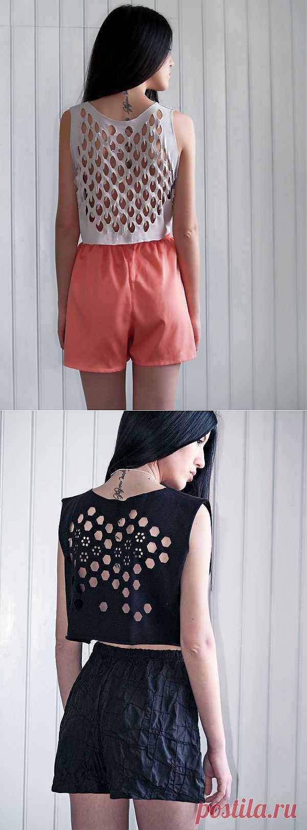 Подборка оригинальных прорезей на одежде / Прорези / Модный сайт о стильной переделке одежды и интерьера