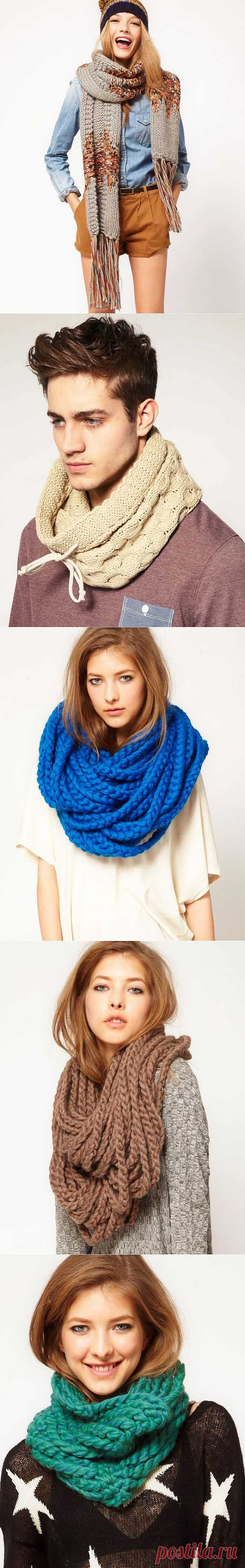 Утеплимся? Идеи для шарфов / Шарфы / Модный сайт о стильной переделке одежды и интерьера