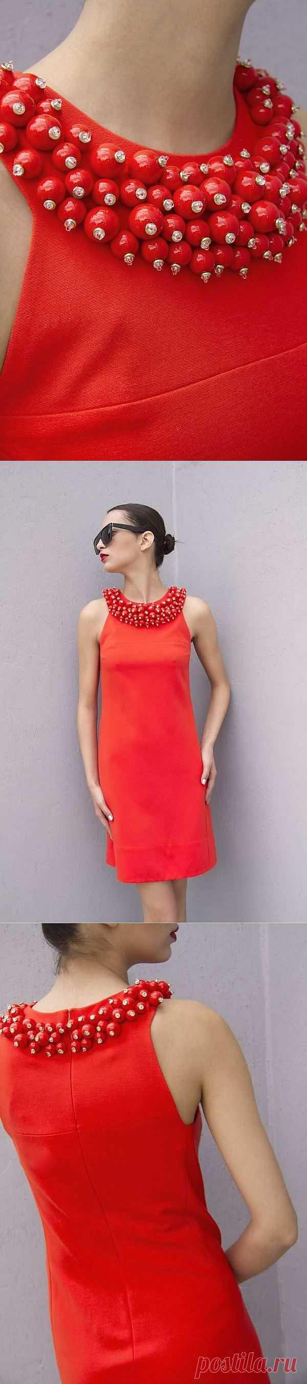 Маленькое красное платье / Детали / Модный сайт о стильной переделке одежды и интерьера