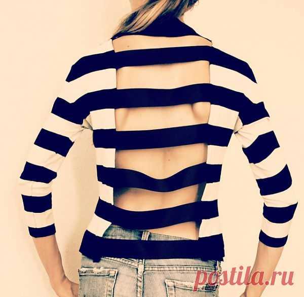 Эластичные полоски (DIY) / Свитер / Модный сайт о стильной переделке одежды и интерьера
