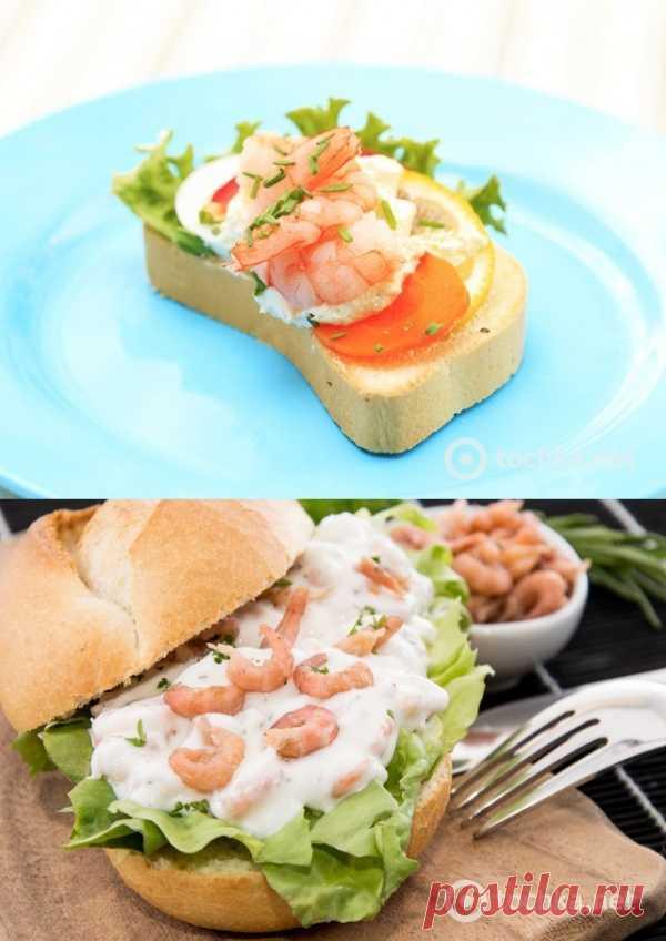 Аппетитные бутерброды с креветочной пастой (для получения рецепта нажмите 2 раза на картинку)