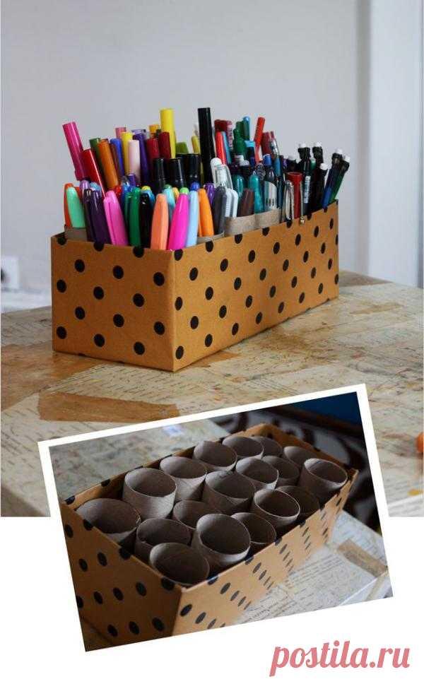 Подставка для ручек и карандашей за 10 минут для вашего ребенка