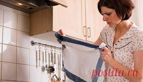 Como blanquear los paños de cocina en las condiciones de casa sin kipyacheniya