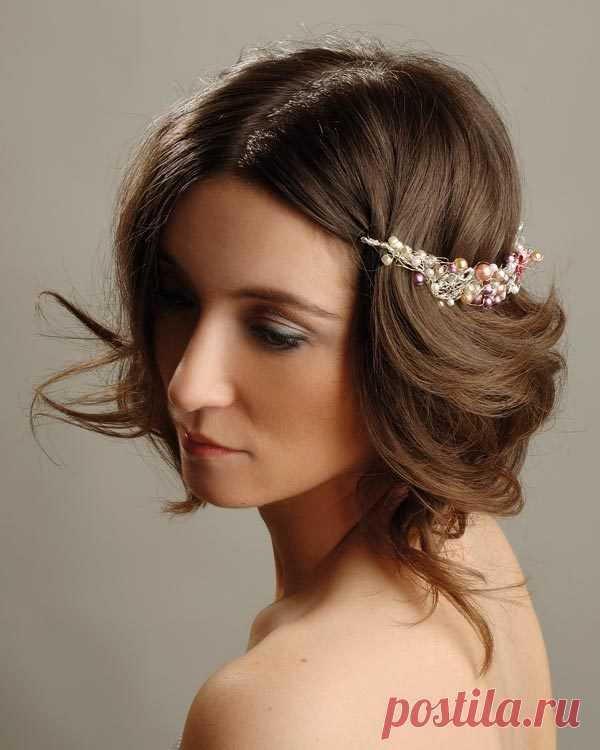 Свадебные прически на короткие волосы: 50 фото