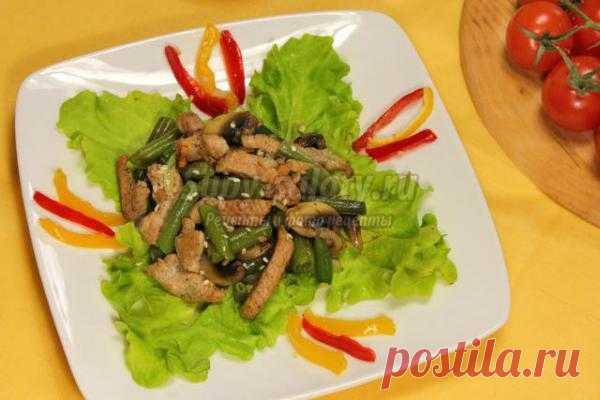 Теплый салат «Тауэр»