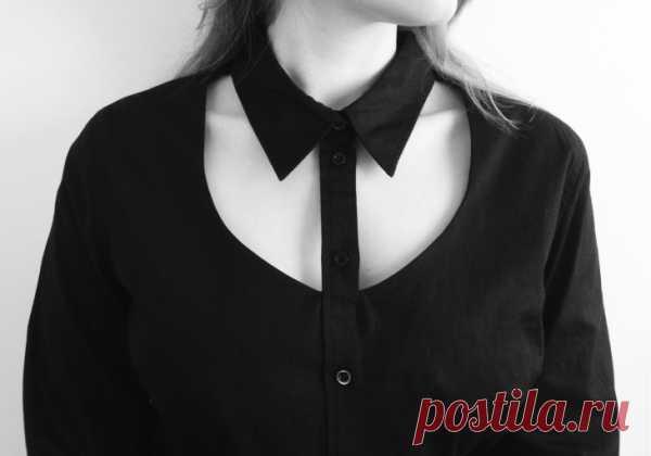 Вырез рубашки (DIY) / Рубашки / Модный сайт о стильной переделке одежды и интерьера