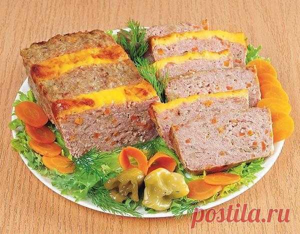 Мясная буханка по-домашнему  (замена колбасе)