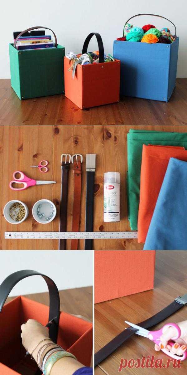 Организованные коробки для хранения журналов, детских игрушек, фотографий, материалов для рукоделия.