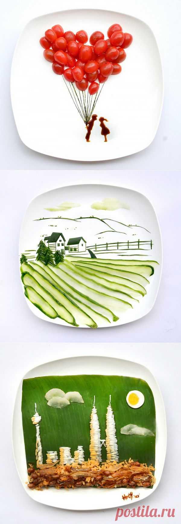 Творчество на тарелке Hong Yi