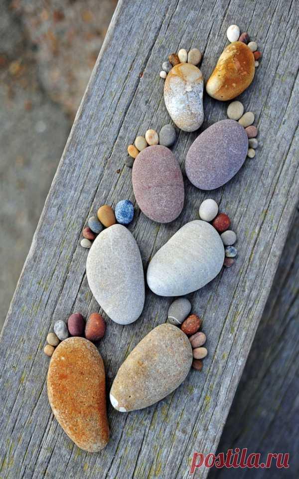 Очаровательные Следы Изготовлены из камня