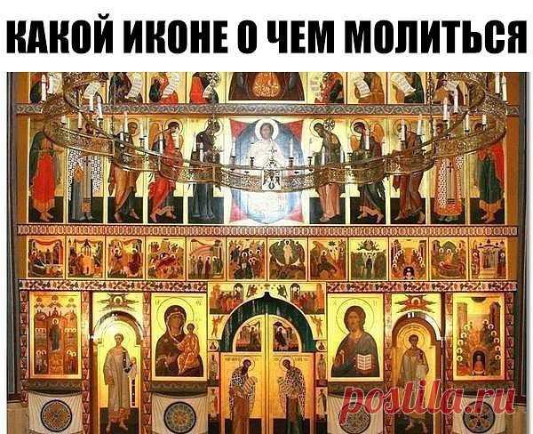 Какой иконе о чем молиться. Сохраните себе, пригодится!