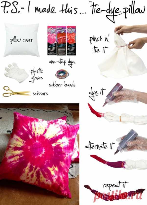 Как интересно покрасить подушку (Diy) / Подушки / Модный сайт о стильной переделке одежды и интерьера
