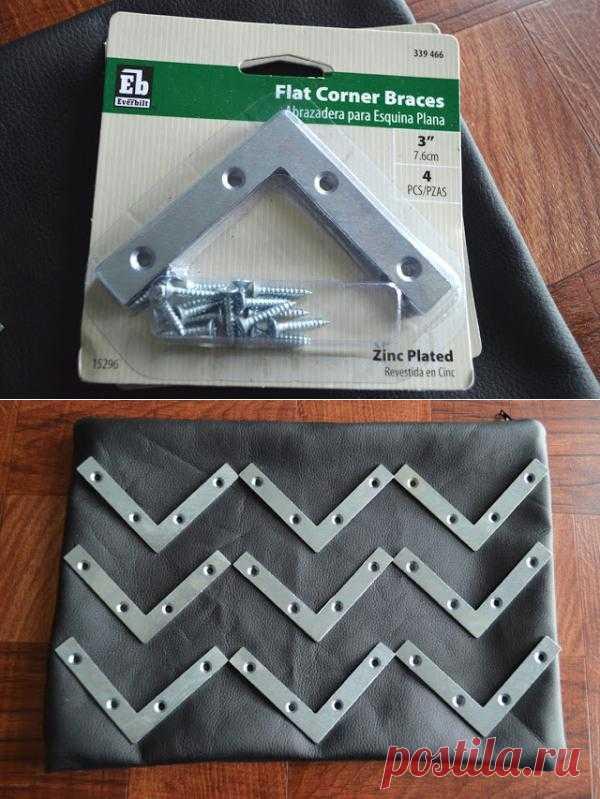 Декор сумки строительными петлями (Diy) / Сумки, клатчи, чемоданы / Модный сайт о стильной переделке одежды и интерьера
