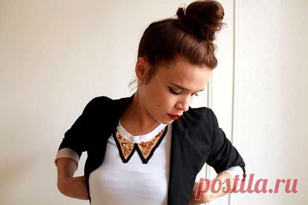 Аппликация воротничка (DIY) / Воротнички / Модный сайт о стильной переделке одежды и интерьера