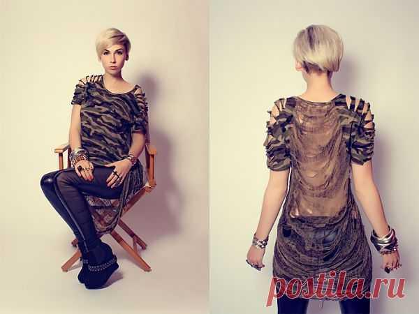 Военная футболка / Футболки DIY / Модный сайт о стильной переделке одежды и интерьера