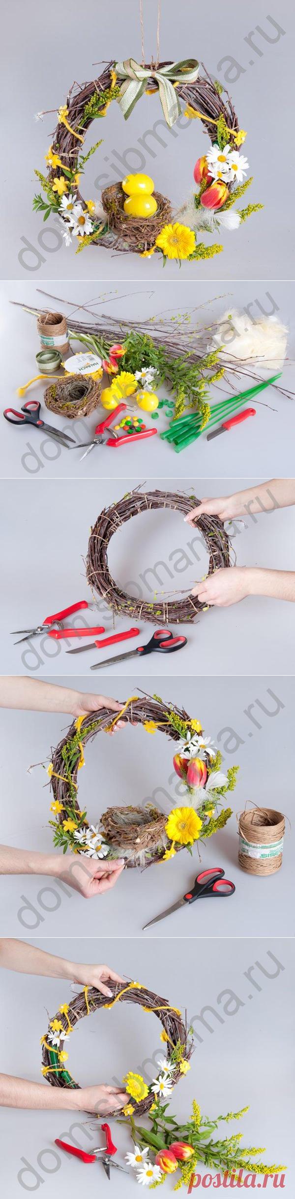 Мастер-класс по созданию пасхального венка — Сделай сам, идеи для творчества - DIY Ideas