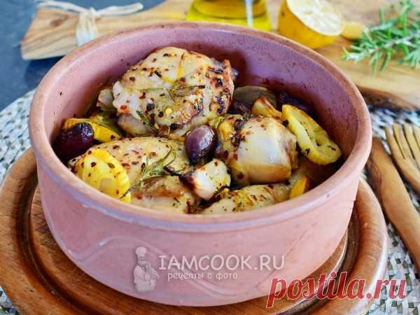 Курица с лимоном и розмарином по-гречески