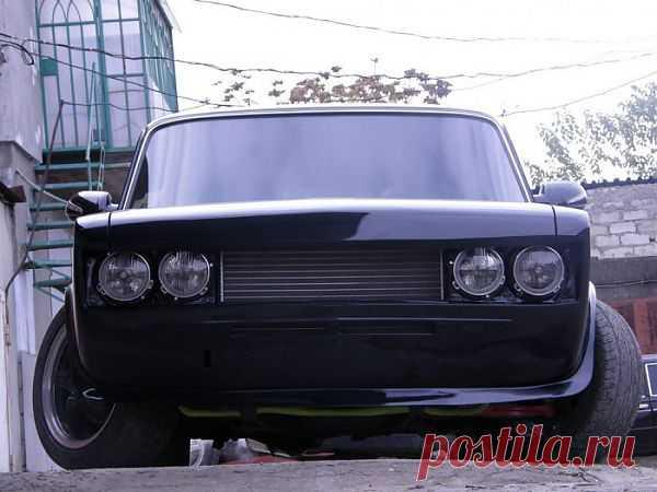 Тюнинг ВАЗ 2106 Чёрно Хромовый Глазастый