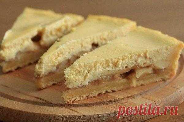 Творожно-яблочный пирог  Ингредиенты: Для теста: - Сливочное масло 200 гр. - Мука 350 гр. - 1 яйцо - 1 ч.л пекарского порошка (можно заменить на соду гашенную лимонным соком) - 1 ч.л ванильного сахара - 2 ст. л сахара - 1 ст…