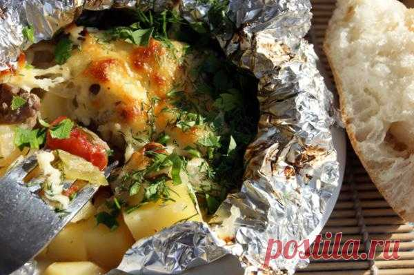 Быстрый ужин узелки с мясом и сыром | ВКУСНО ПОЕДИМ!