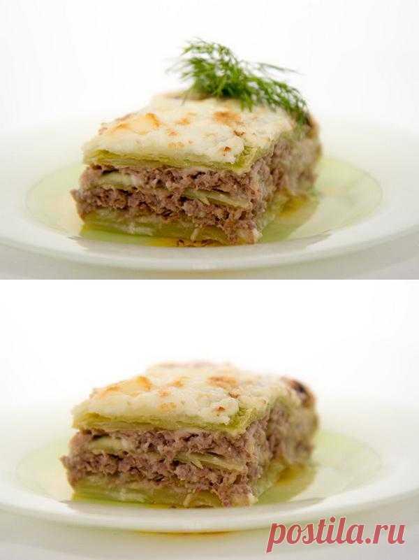 Мясные блюда: Лазанья диетическая