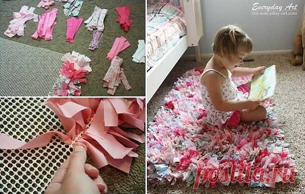 Идея для коврика handmade.