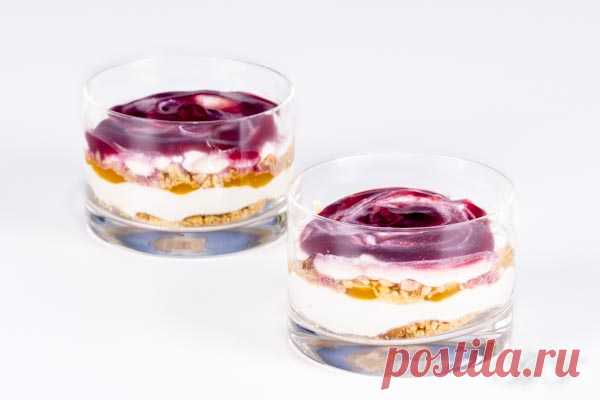 cheesecake with bilberry