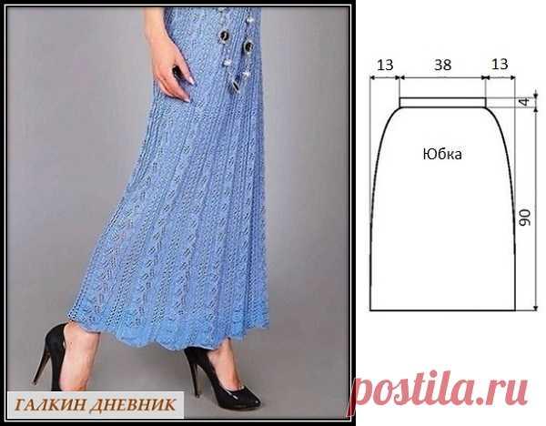 ГАЛКИН ДНЕВНИК : Ажурная юбка макси спицами
