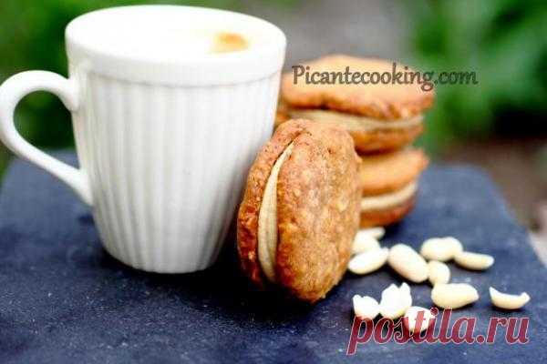 Арахисовое печенье с арахисовым кремом.
