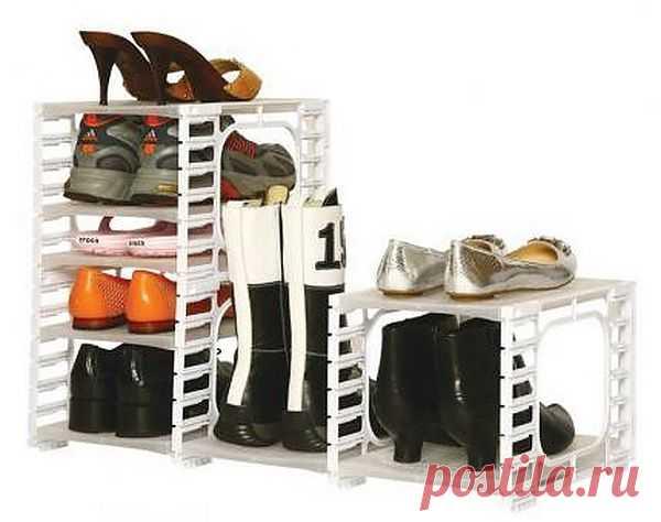 Обувница - 60 магазинных и самодельных идей - Фото - Разумное хранение