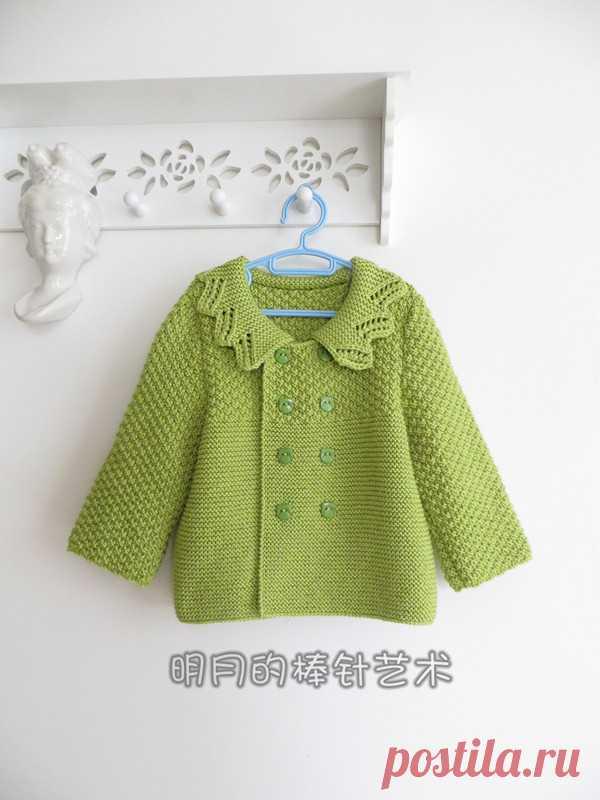 детское двубортное пальто спицами вязание спицами пальто для детей