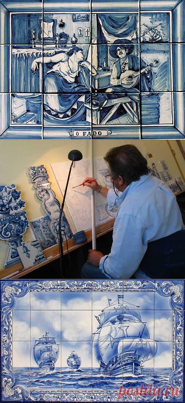 (+1) тема - Азулейжу, или азулейжос (порт. azulejo) — керамические панно   Школа Ремонта