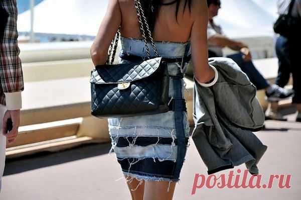 """""""Джинсовое платье"""" / Street Style / Модный сайт о стильной переделке одежды и интерьера"""