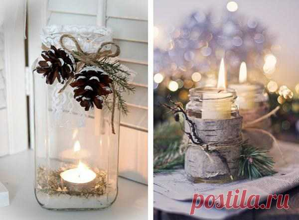 The neigbour bought 3 white high candles and put them in a transparent vase, and then … As it is refined! — Kopilochka of useful tips