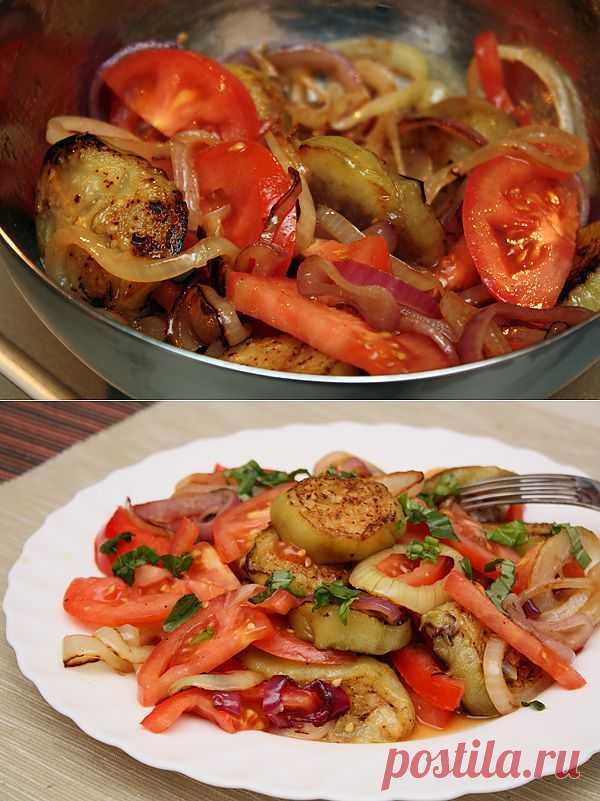 Салат из баклажанов, рецепт необычного салата с поджаренными баклажанами. Foodclub