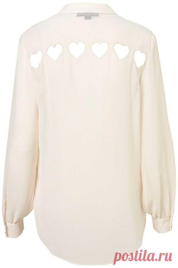 Блузка с прорезями / Блузки / Модный сайт о стильной переделке одежды и интерьера
