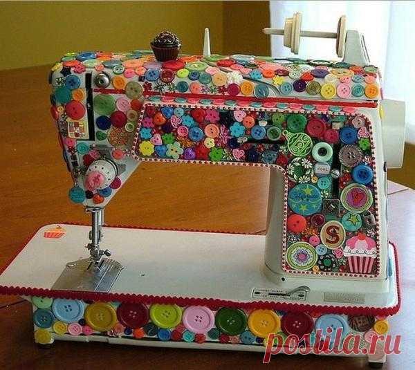 Необычная идея декора швейной машинки!
