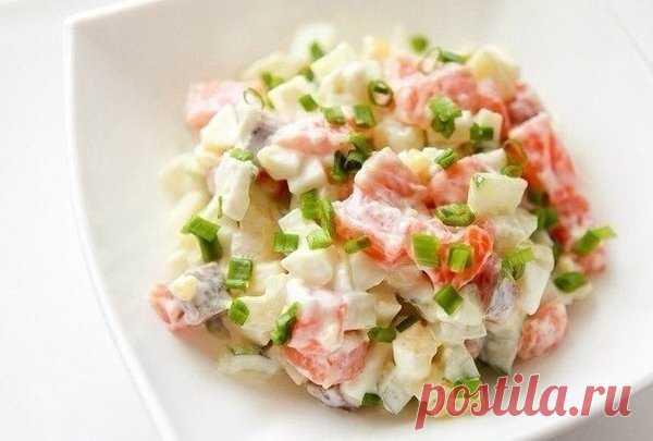 Салат с семгой | Кулинария | Яндекс Дзен