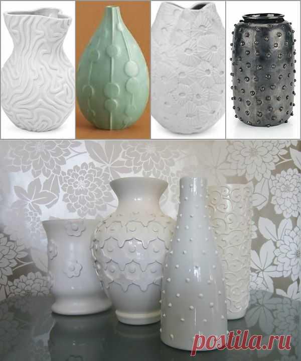 Декор вазы (мастер-класс) / Цветы / Модный сайт о стильной переделке одежды и интерьера