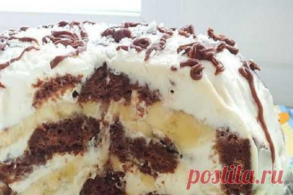 Изyмитeльный торт без выпечки из трex ингрeдиeнтoв По моему мнению, это самый простой рецепт вкусного торта.